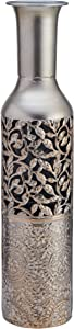 Elements Embossed Decorative Metal Vase, 20-Inch, Assorted