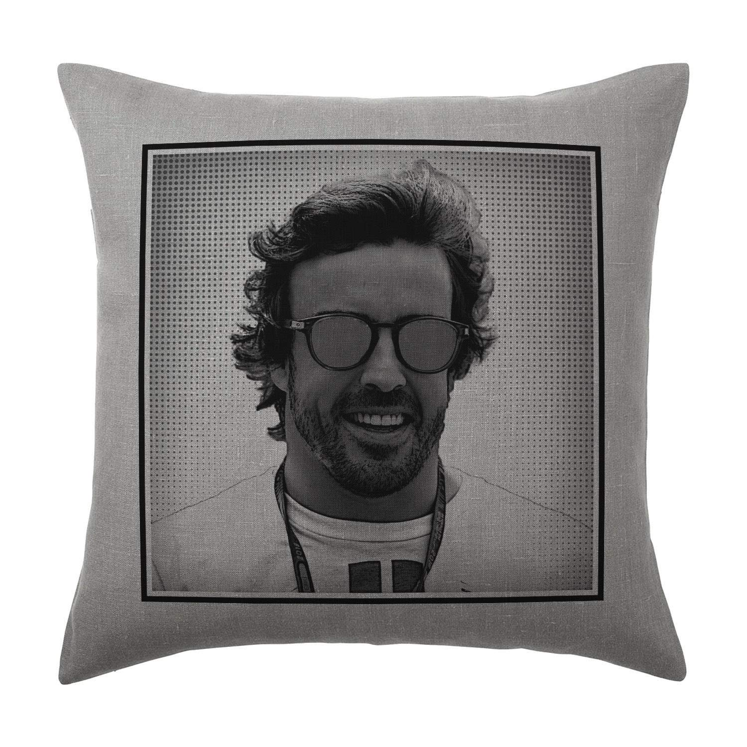 Cover and filling pad 100/% Cotton 40x40cm Silver Grey Available with or without filling pad Orlando Bloom Cushion Pillow