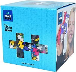 PLUS PLUS - Open Play Set - 1200 Piece - Basic Color Mix, Construction Building Stem Toy, Interlocking Mini Puzzle Blocks for Kids