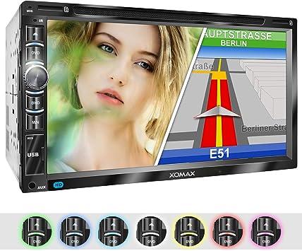 XOMAX XM-2DN6906 Radio de Coche con Mirrorlink I Navegador GPS I ...