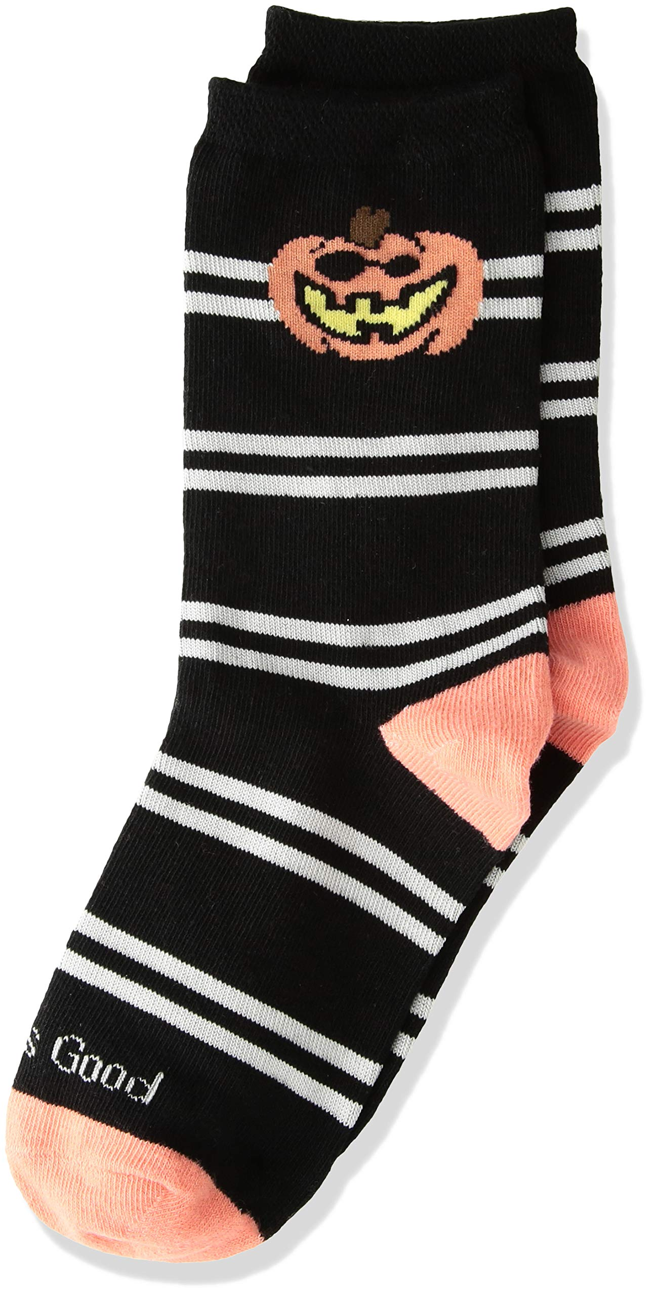 Life is Good Big Boys Crew Socks, Large (Fits Shoe Size 13-4), Pumpkin Black
