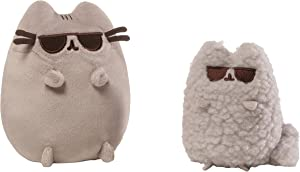 GUND Pusheen and Stormy Sunglasses Plush Stuffed Animals, Collector Set of 2, Gray