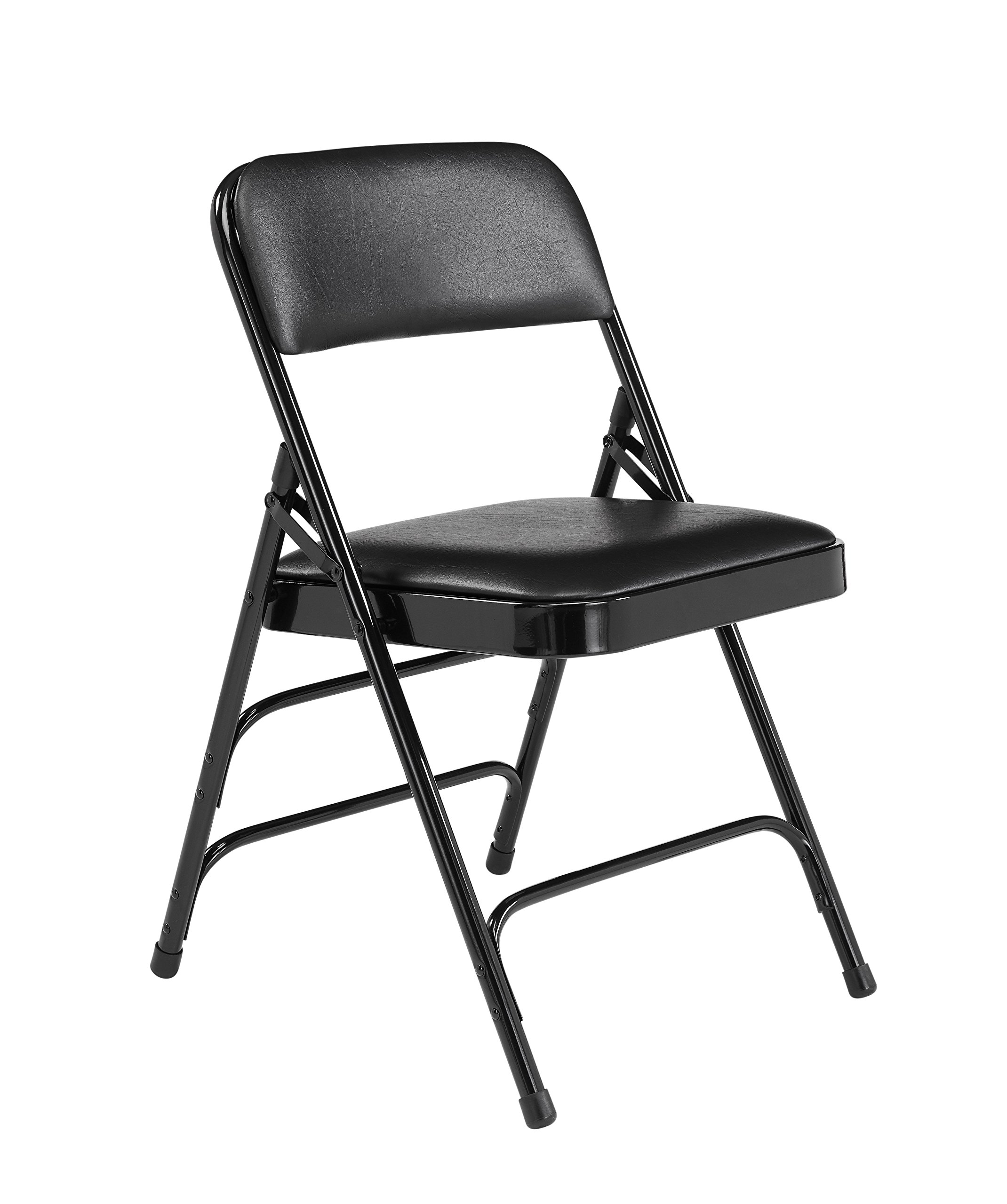 National Public Seating 1310 NPS Vinyl Padded Triple Brace Folding Chair, Steel (Pack of 4) by National Public Seating