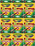 Crayola 24 Count Box of Crayons Non-Toxic Color Coloring School Supplies (9 Packs)