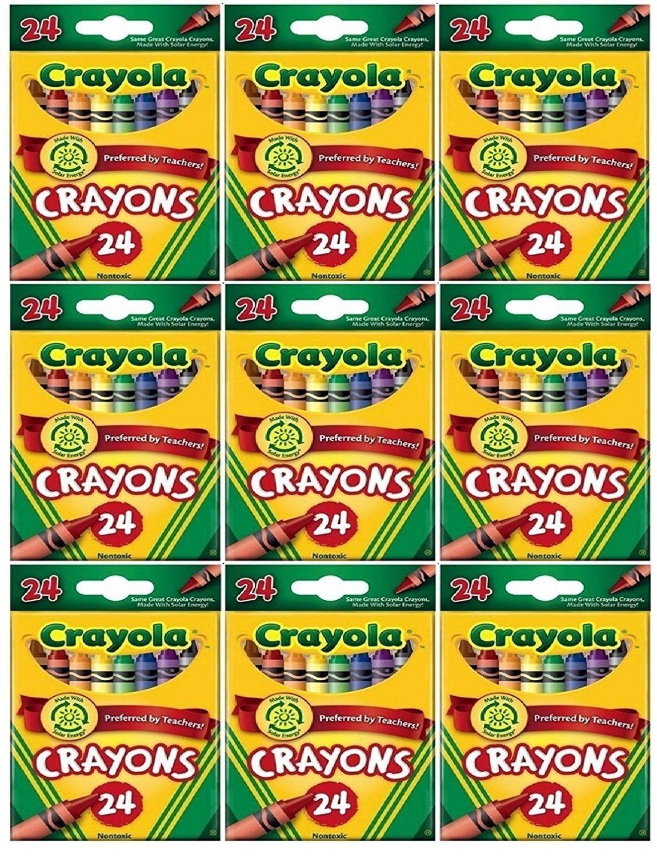 Amazon.com: Crayola 24 Count Box of Crayons Non-Toxic Color Coloring ...