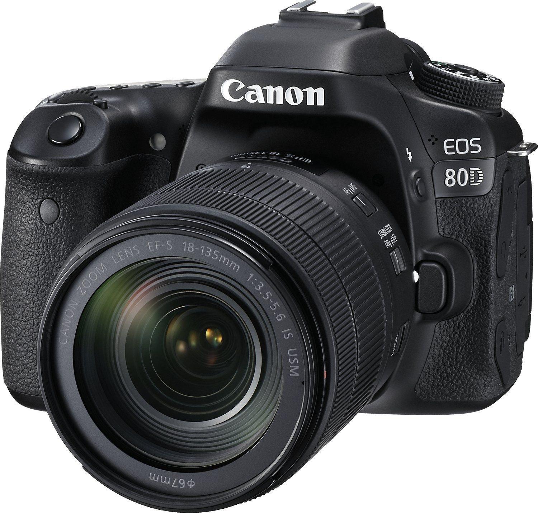 Amazon Canada Canon EOS 80D Digital SLR Kit with EF S 18 135mm f 3 5 5 6 Image Stabilization USM Lens Black
