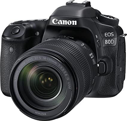 7f4299a9255 Buy Canon EOS 80D 24.2MP Digital SLR Camera (Black) + EF-S 18-135mm  f 3.5-5.6 Image Stabilization USM Lens Kit + 16GB Memory Card Online at Low  Price in ...