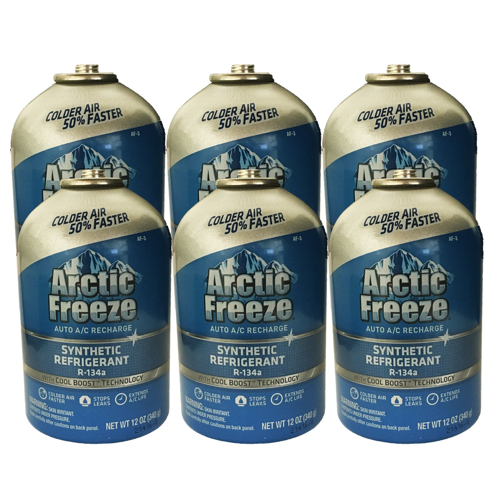 Interdynamics (AF-3) Arctic R-134a Ultra Synthetic Freeze Refrigerant - 12 oz. 6 Cans