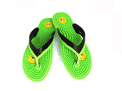 4f1886640 VINDHWASHNI Ladies Acupressure Slippers for Daily Use with Magnetic Effect  Helps in Controlling Blood Pressure !: Buy Online at Low Prices in India ...