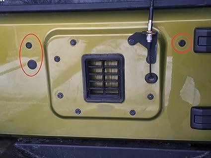 Amazon RUBBER Body Plugs For Jeep Wrangler JK 2007
