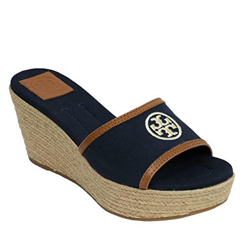 ceb7490ac1c Tory Burch Laura 80mm Flip Flop Sandal Wedge TB Logo (6.5