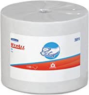 WypAll 35015 X50 Cloths, Jumbo Roll, 9 4/5 x 13 2/5, White, 1100/Roll