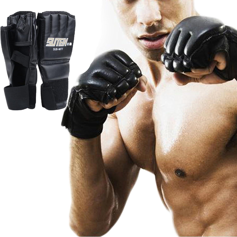 ボクシンググローブ、タイトレーニングパンチバッグHalf Mittsボクシンググローブ