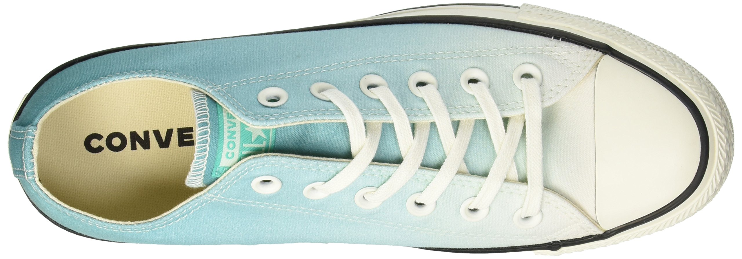 Converse Women's Chuck Taylor All Star Ombre Low TOP Sneaker, Pure Teal egret, 7.5 M US by Converse (Image #7)