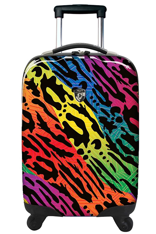 Kofferset, Gepä ckset, Reisegepä ck by Heys - Premium Designer Hartschalen Kofferset 2 TLG. - Novus Art Brush Strokes Handgepä ck + Koffer mit 4 Rollen Medium Rucksäcke Taschen