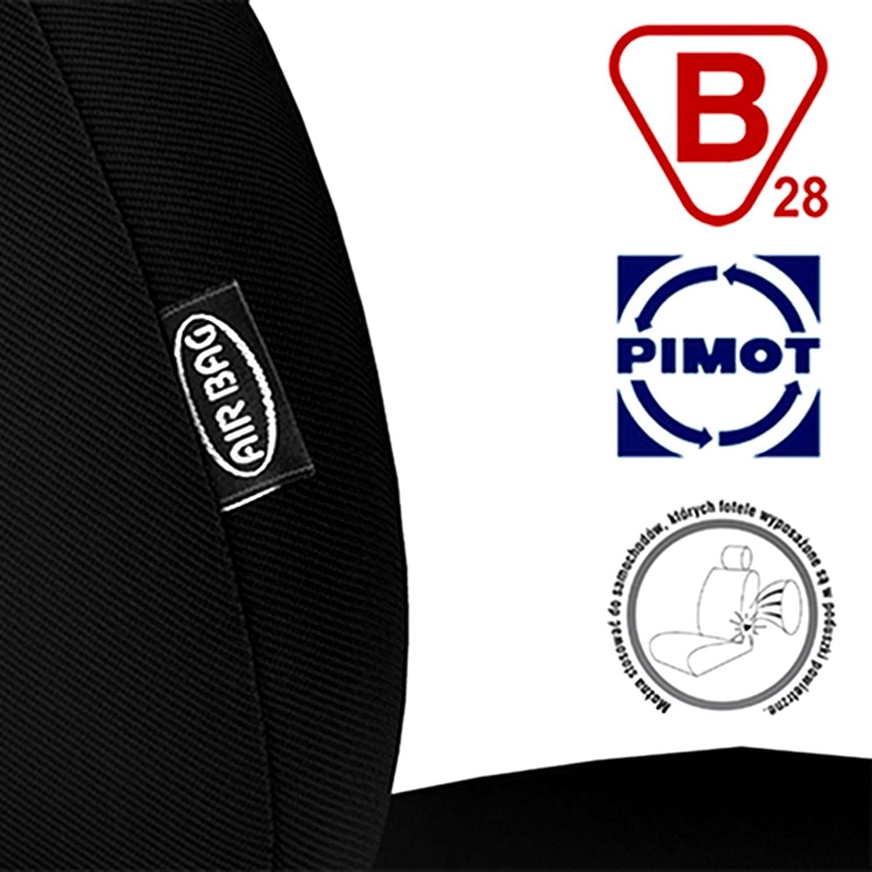 Ma/ß Autositzbez/üge Schwarz 1+2 Transporter Sitzbez/üge Sitzbezug Schonbezug Schonbez/üge Autoschonbezug Autositzbezug Sitzauflagen Sitzschutz Front Gallante VIP Saferide