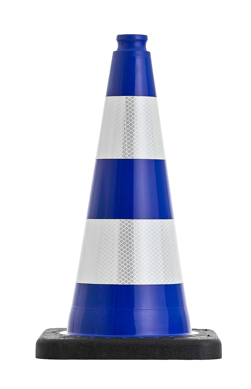 UVV-SHOP Traffic Cone, 50 cm Blue Reflective with Black Base ca. 2.2 kg UVV-Shop.de