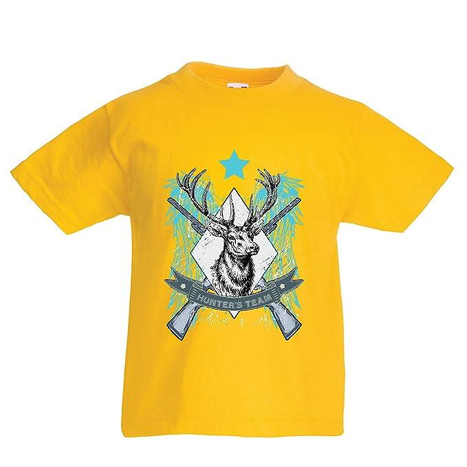 lepni.me Camiseta para Niño/Niña Caza de venado - Equipo de Caza/Escuadrón, Regalo de Cazador: Amazon.es: Ropa y accesorios