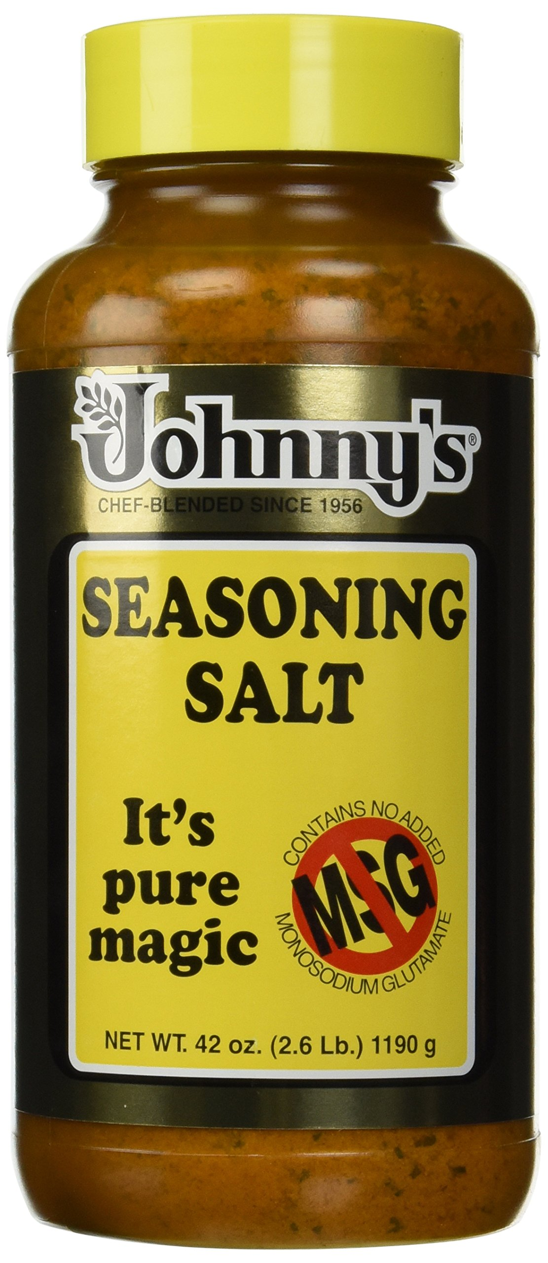 Johnny's Seasoning Salt , NO MSG 42-Ounce Bottle(Pack of 2)