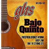 GHS Strings GHS PHOSPHOR BRONZE BAJO QUINTO Cuerdas - Extremo de bucle (BSXB-10)