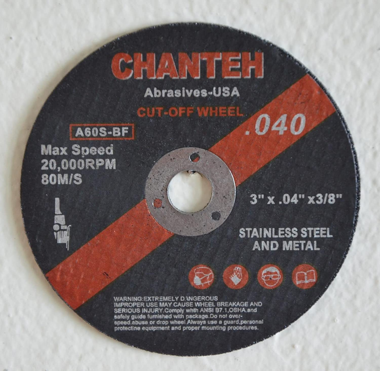 "100 6/"" x .045/"" x 7//8/"" H/&M ABRASIVES Cutting Wheel SS /& Metal INOX Cut-off Disc"