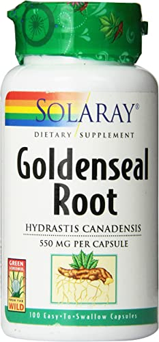 Solaray Goldenseal Root Capsules, 550 mg, 100 Count