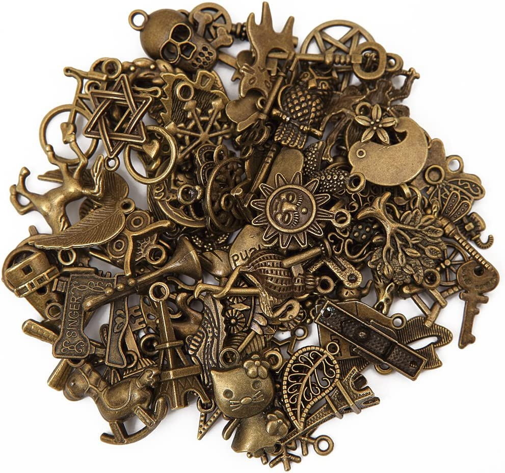 20 Apple Jewelry Making Charms Bulk Pack Antique Bronze Finish 11mm  CHA1271