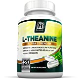 BRI Nutrition 200mg L-Theanine Enhanced with 100 mg of Inositol - 120 Count 200mg L Theanine Veggie Capsules