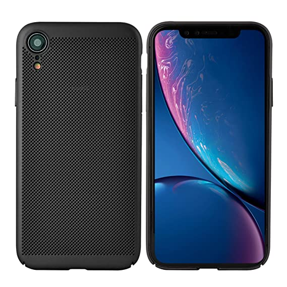 newest 2640c 63acc Olixar iPhone XR Slim Case - Breathable Mesh Case - Heat Dissipating Design  - Wireless Charging Compatible - Meshtex - Black
