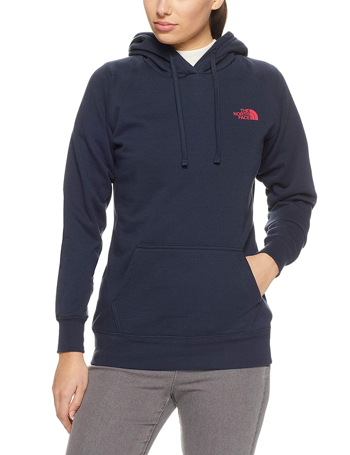 2af880f92 The North Face Women's Red Box Pullover Hoodie - Urban Navy & Raspberry Red  - XS