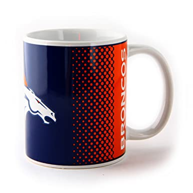 NFL Denver Broncos Official Fade Ceramic Football Crest Mug (One Size)  (Blue  a8e3a7b8e