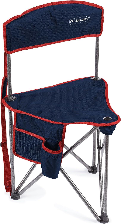 Lightspeed Outdoors Xtra Wide Nylon Ripstop Tripod Lightweight Folding Camping Sports Chair (Blue)