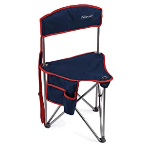 Lightspeed Outdoors Xtra Wide Nylon Ripstop Tripod Lightweight Folding Camping Sports Chair (Blue)