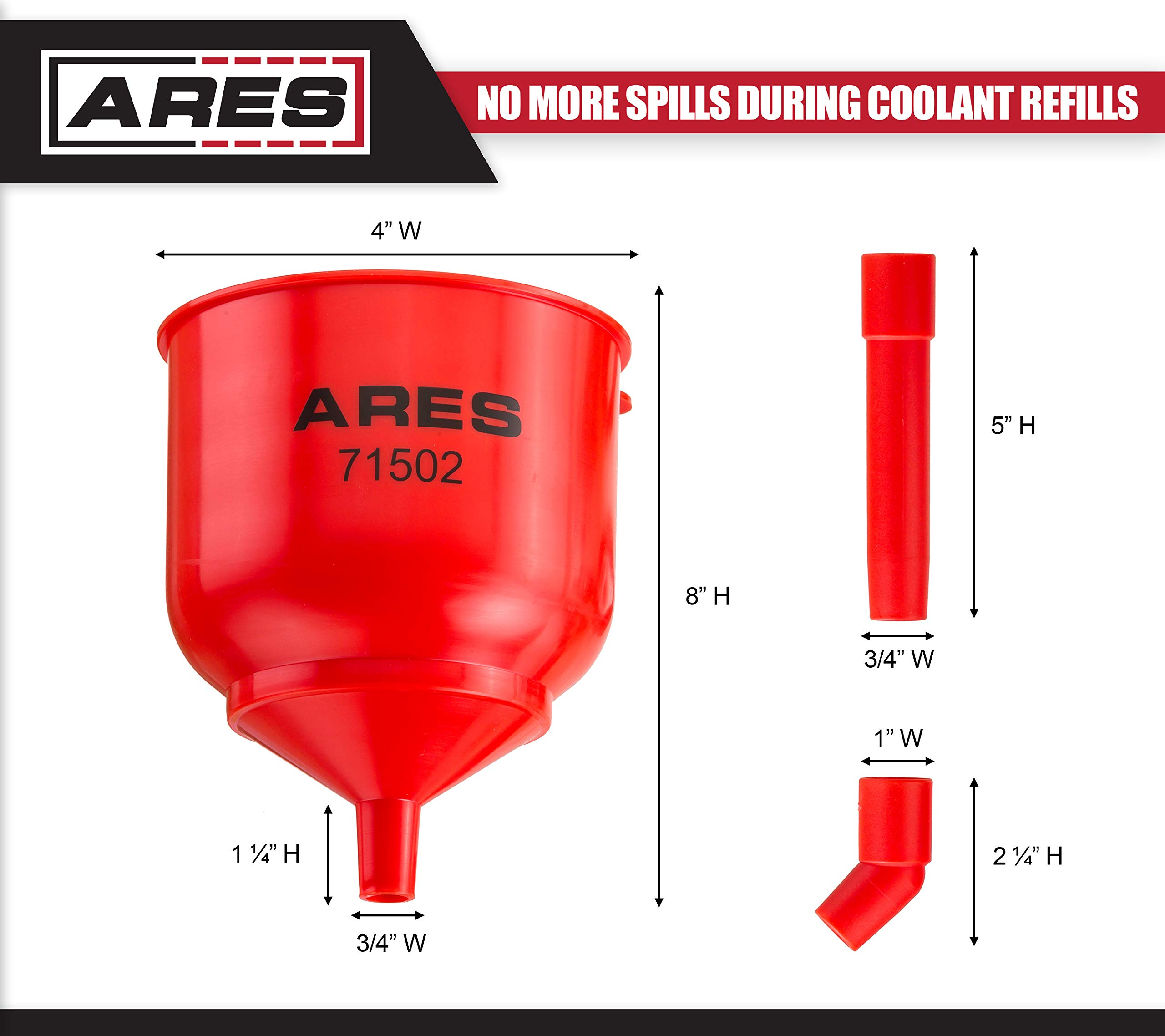 ARES 71502 | Spill Proof Coolant Filling Kit | Eliminates Trapped Air Pockets and Squeaky Belts Due to Overflow by ARES (Image #4)