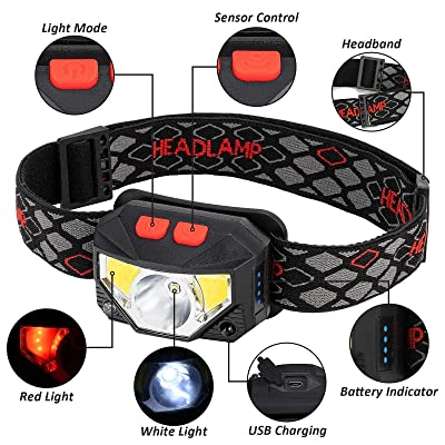 Details about  /USB Rechargeable Tactical 350000 Lumens LED Headlamp Headlights 8 Modes Lamp