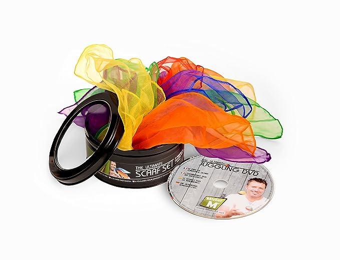 ✓ 6 Pañuelos de Malabares, Disfraz o Bailar / CE Verificado + DVD ...
