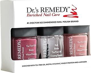 product image for Dr.'s Remedy All Natural Anti Fungal Nail Polish ANNIVERSARY KIT Organic Non Toxic Toenail Fungus Treatment 3 Piece Nail Polish Set