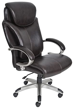 serta 43809 air health and wellness executive office chair big and tall roasted chestnut big office chairs executive office chairs