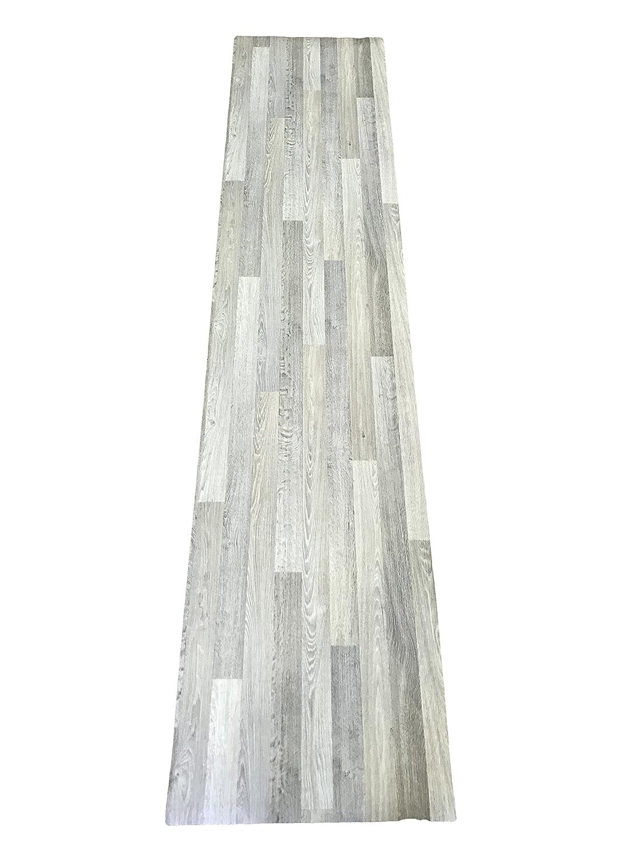 LaVelaHOME Tappeto cucina a metraggio PVC largo 50 plasitca effetto legno invecchiato chiaro Gerflor