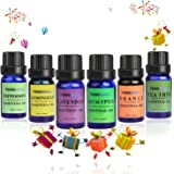 Tenswall Aromatherapy 6 Essential Oils 100% Pure Therapeutic Grade Basic Sampler 10 ml (Lavender,teatree,orange,peppermint,lemongrass,eucalyptus)