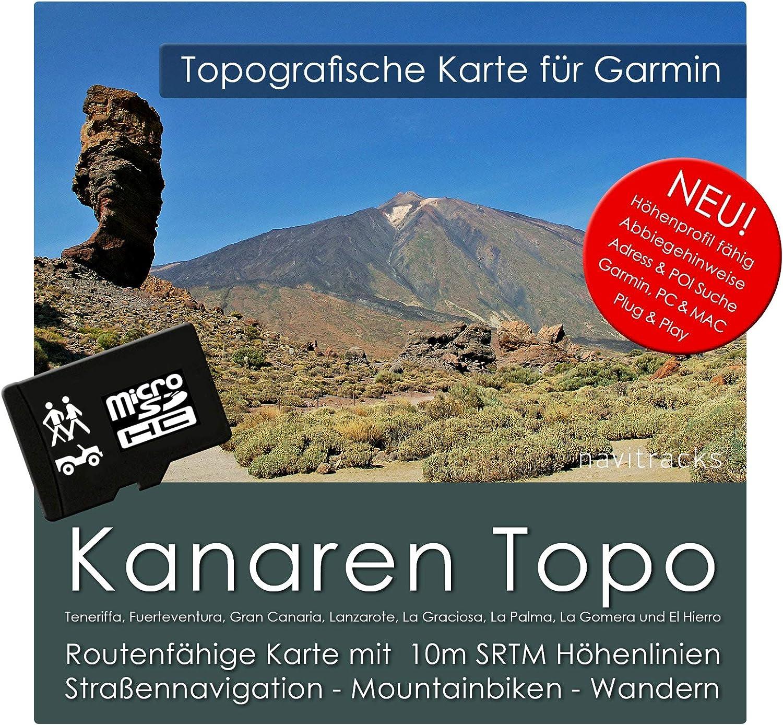 Kana rische Islas Garmin Tarjeta Topo 4 GB MicroSD. Mapa Topográfico de GPS Tiempo Libre para Bicicleta Senderismo Excursiones Senderismo Geocaching & Outdoor. Dispositivos de Navegación, PC & Mac: Amazon.es: Software