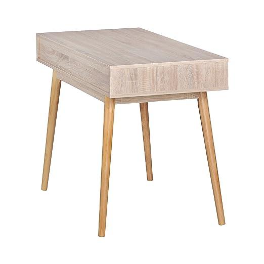 Computertisch design  Wohnling Schreibtisch Design Sonoma Computertisch Schublade/weiß ...