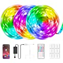 AMAOGE 49.2ft LED Strip Lights with Music Sync And APP Control