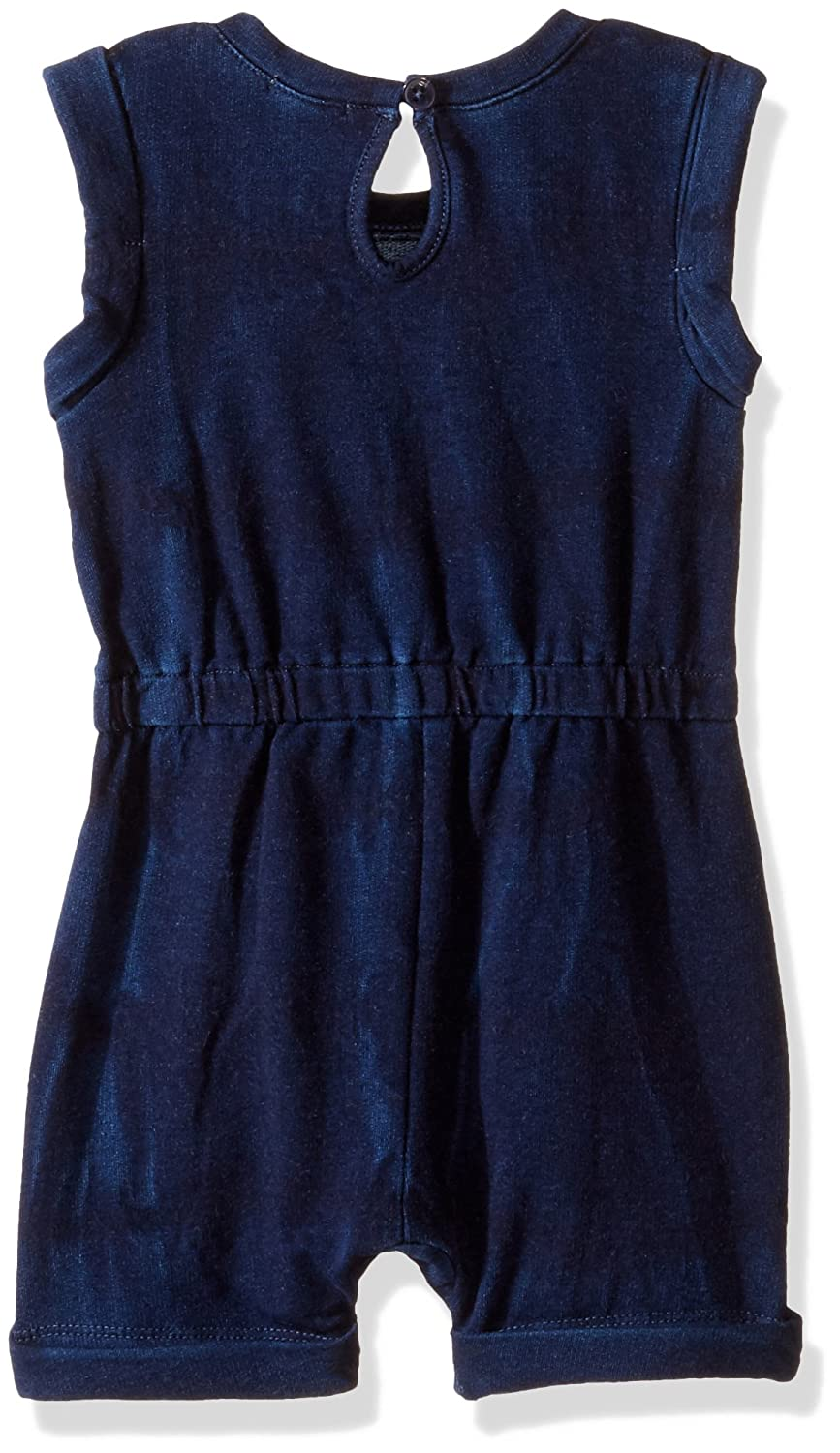 a6611a15f769 Amazon.com  Splendid Girls  Indigo Baby French Terry Romper with Lace