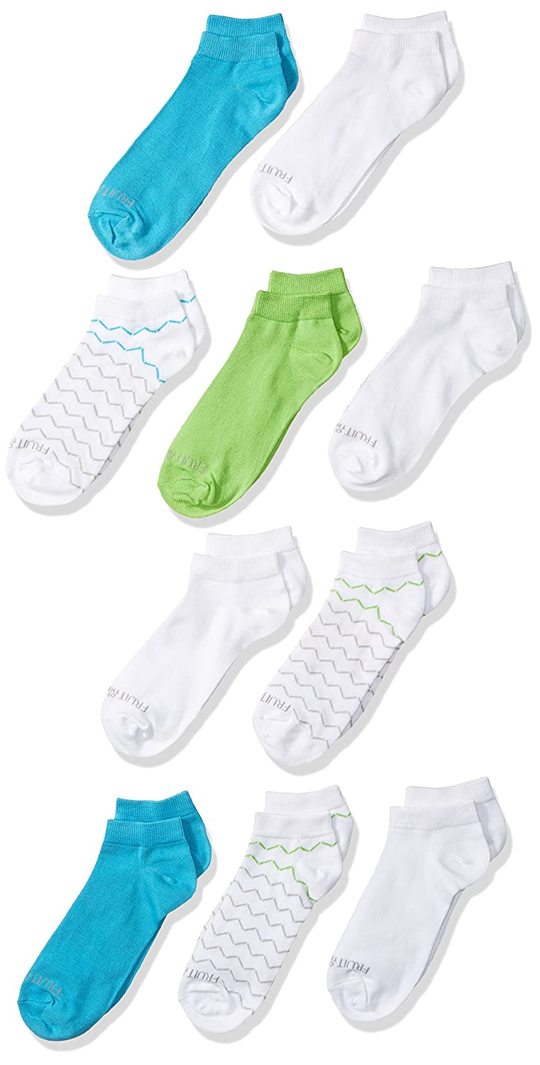 Fruit of the Loom Girls Little Low Cut with Half Cushion 10 Pack Sock