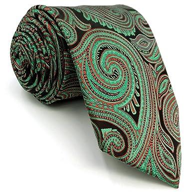 shlax&wing único Rojo Verde Cachemir Mens Corbatas Para Hombre ...