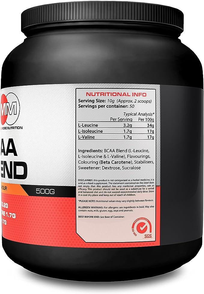 mmn BCAA Blend Orange Flavour 500 G augmente la síntesis de ...
