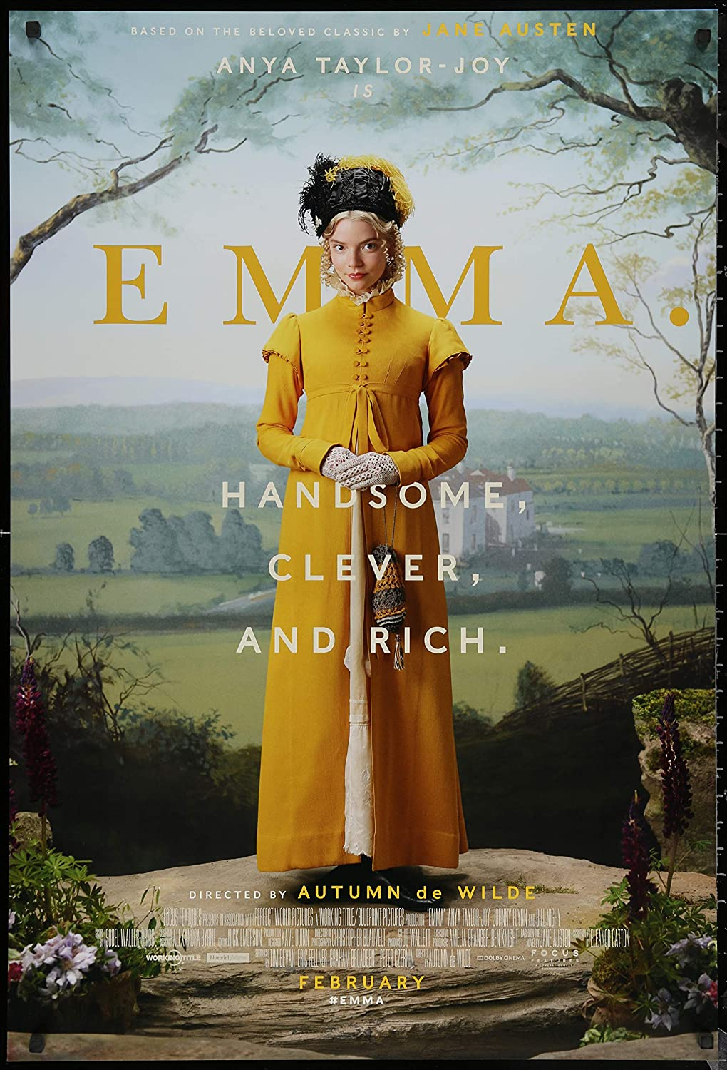 "EMMA - 27""x40"" D/S Original Movie Poster One Sheet 2020 Anya Taylor-Joy  Jane Austen at Amazon's Entertainment Collectibles Store"