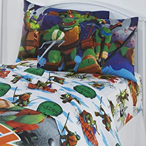 Teenage Mutant Ninja Turtles Kids Sheet Set 3 Piece Boy Bedding Set TMNT Twin Size