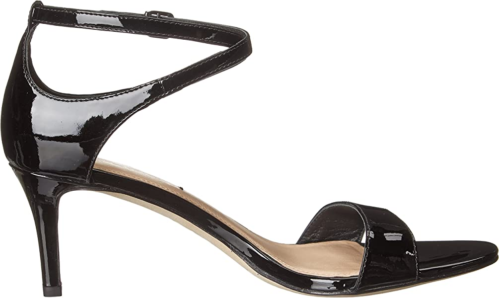 dc02e6de024 Via Spiga Women s Leesa Heeled Sandal Black Patent 5 M US. Back. Double-tap  to zoom